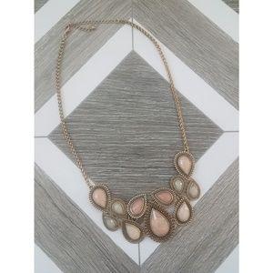 Pink & Gold Statement Necklace
